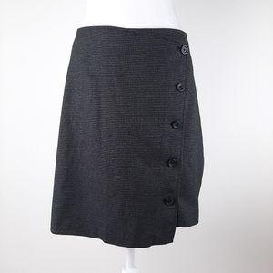 Banana Republic Wrap Buttonown Skirt